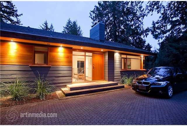 West Vancouver Modern Renovation contemporary-entry