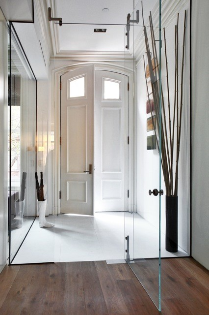 Townhouse Foyer : West village townhouse contemporary entry new york