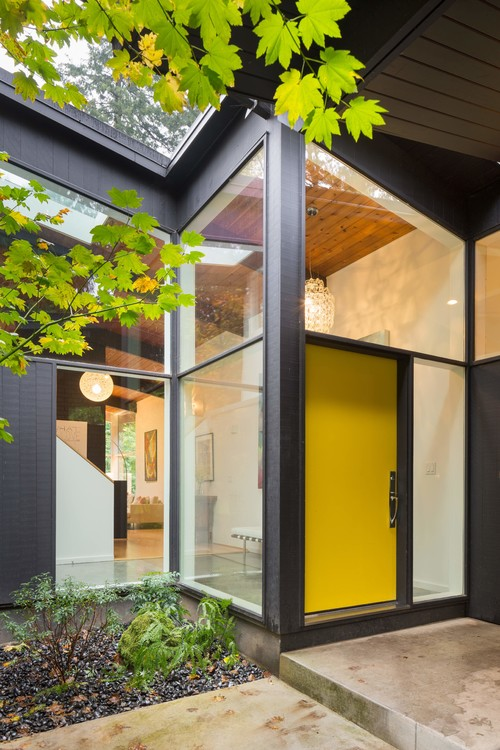 Exciting Modern Front Doors Ideas For Modern Home Design Recessed Lighting And Modern Front: 5 Updates For A Midcentury Home's Exterior