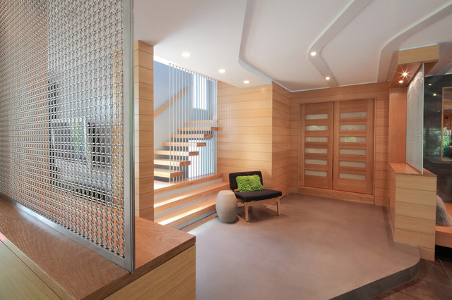 modern entry by Saniee Architects llc