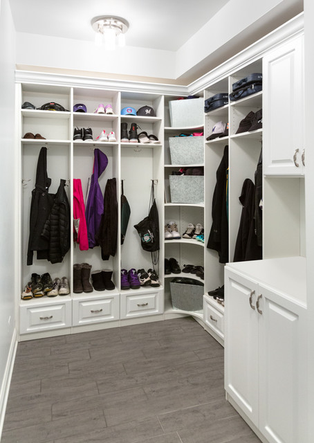 White & Bright Mudroom Organization - Traditional - Laundry Room - chicago - by Closet ...