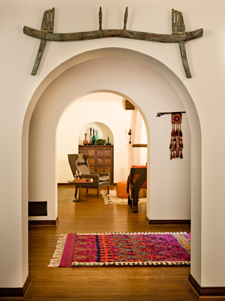 Entry hall - mediterranean entry hall idea in Portland