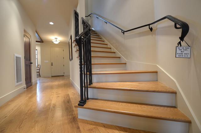 White Oak Hardwood Floor And Stairs
