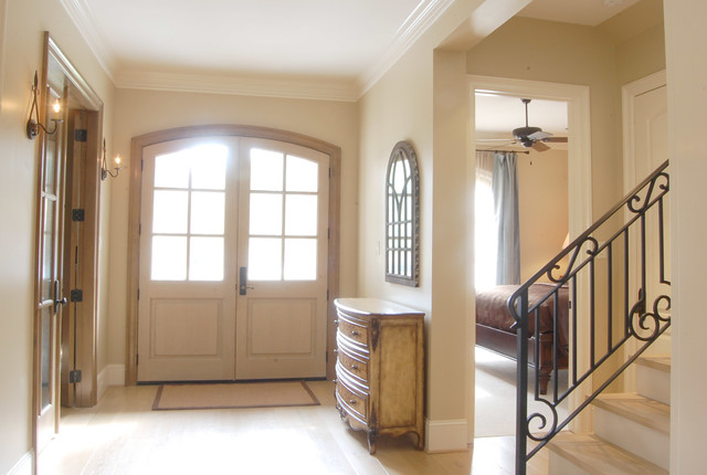 Garden Oaks French Country traditional-entry