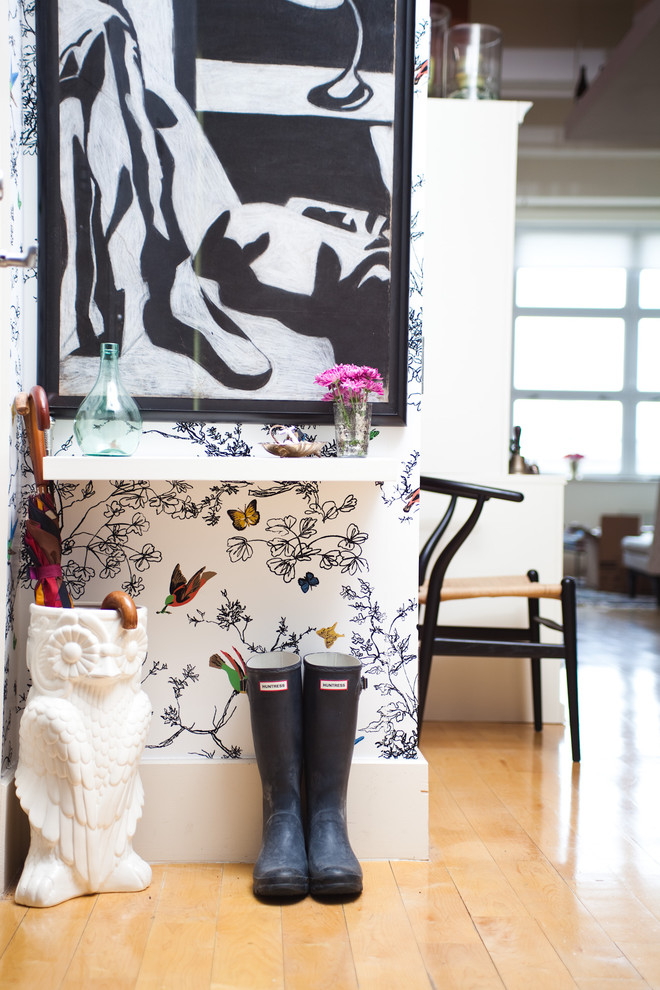 Eclectic entryway photo in New York