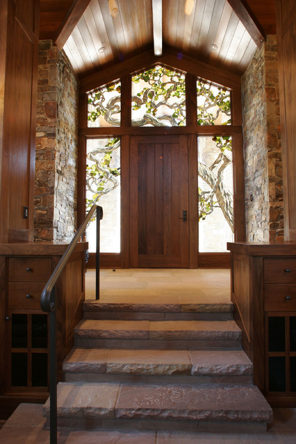 Wine Country Living eclectic entry