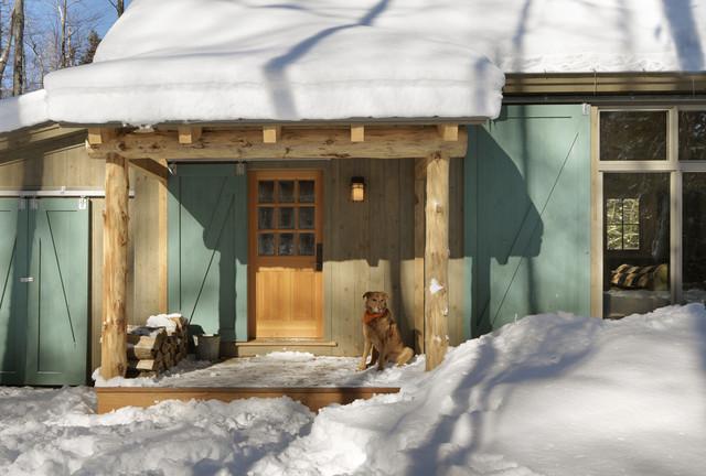 Winter Cabin Rustic Entry Burlington By Susan