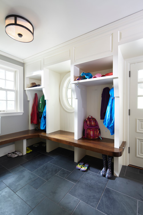 Choose A Sleek Flush Mount Such As The Hudson Valley Patterson For Ideal Mudroom Lighting Photo