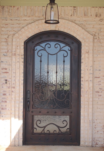 Wrought iron doors traditional entry austin by for Exterior doors austin tx