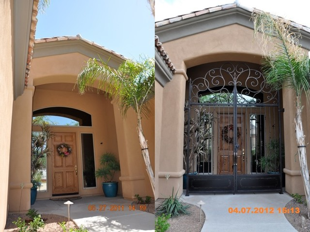 Wrought Iron Gate Mediterranean Entry Phoenix By The French