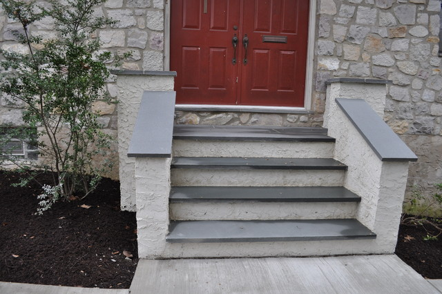 Wynnewood PA Concrete Steps traditional-entry