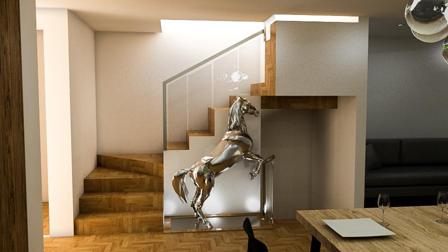 Diseño de planta principal y ubicacion de luminarias, Madrid