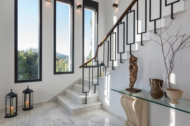 fotos de escaleras en l con con baldosas yo azulejos