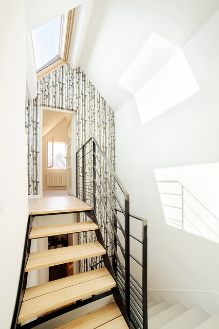 Am nagement cage d 39 escalier scandinavian staircase rennes by o2 concept architecture for Cage escalier