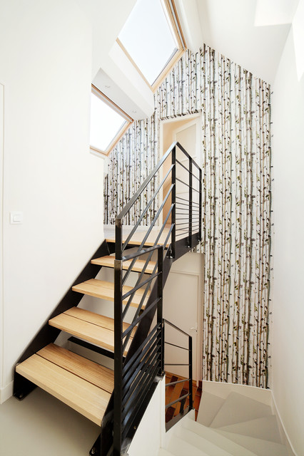 Aménagement cage d\'escalier - Scandinave - Escalier - Rennes - par ...