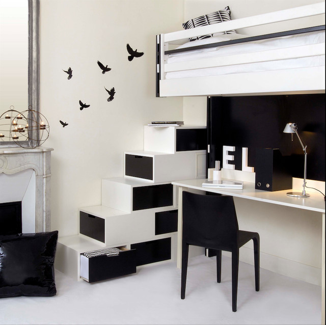 am nagement studio gain de place escalier paris par espace loggia. Black Bedroom Furniture Sets. Home Design Ideas