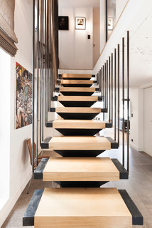 appartement lyon scandinave escalier lyon par damien carreres. Black Bedroom Furniture Sets. Home Design Ideas