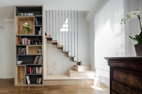 Besoin de conseils pour un escalier m tal bois - Escalier ouvert salon ...