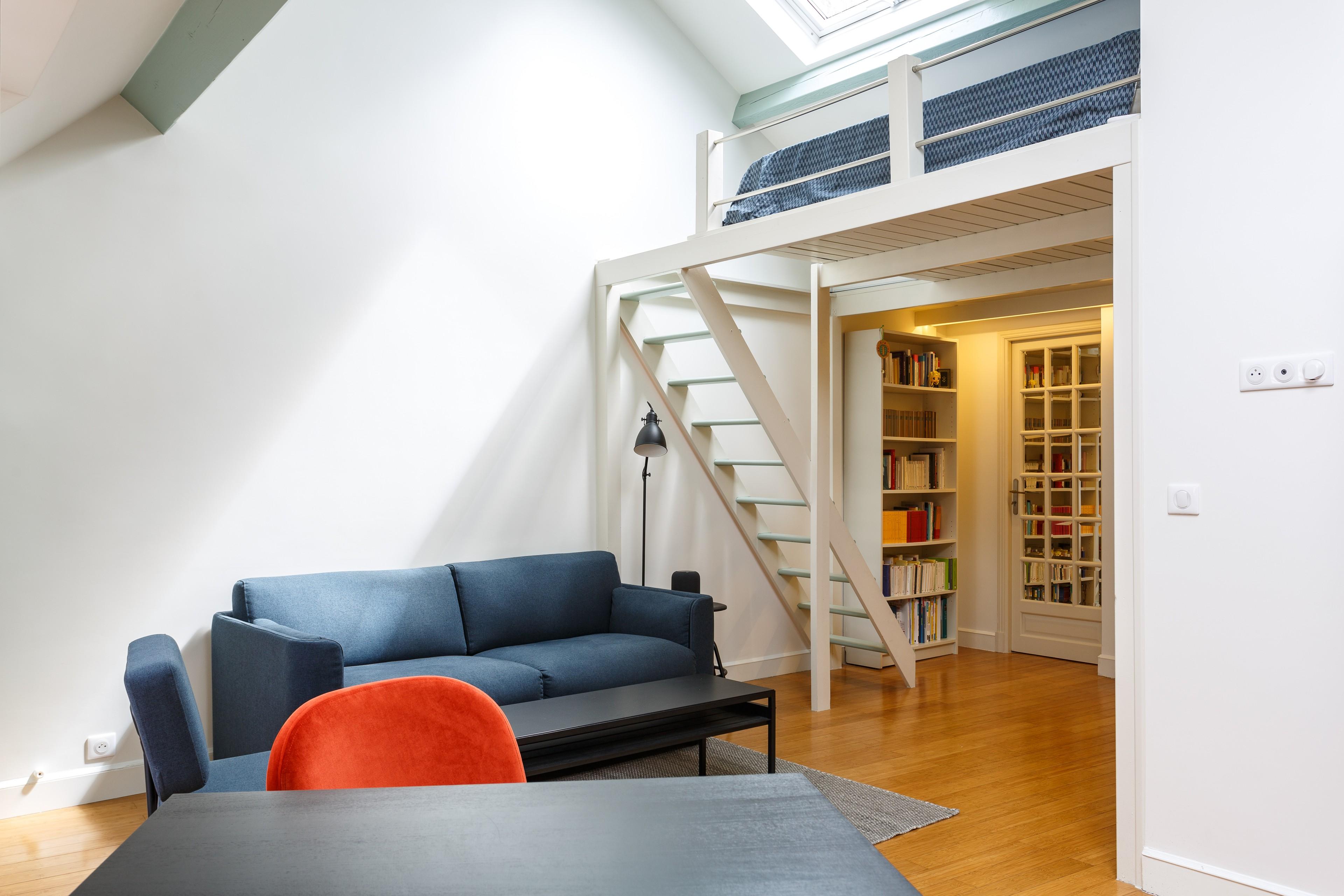 Avant/Apres transformation d'un  appartement sous les toîts