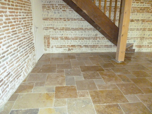 Carrelage en travertin turc mix 1er choix en opus 4 formats for Carrelage opus romain