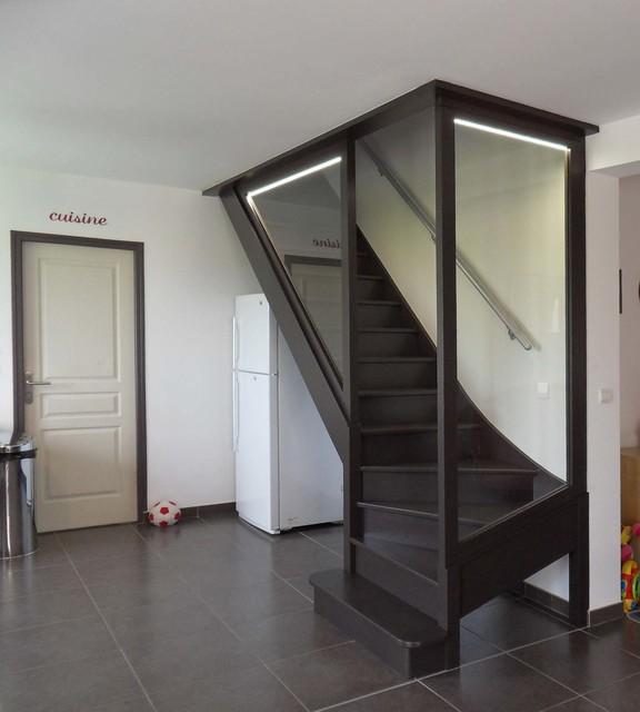 combles et cage d 39 escalier. Black Bedroom Furniture Sets. Home Design Ideas