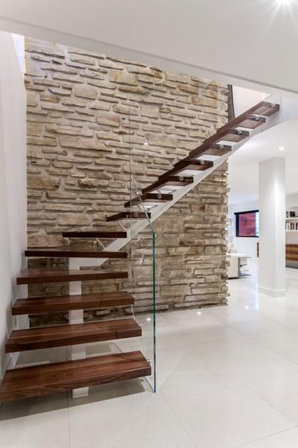 design intérieur contemporain - Contemporain - Escalier - Montréal ...