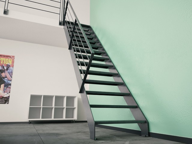 echelle de meunier z5 marches acier contemporain escalier other metro par stairkaze. Black Bedroom Furniture Sets. Home Design Ideas