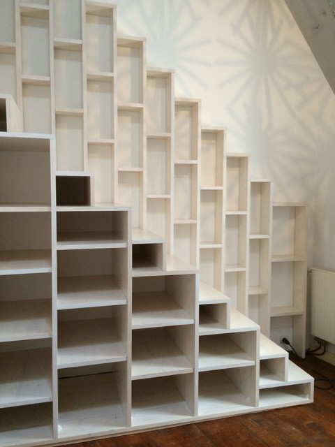 escalier biblioth que cgmrotterdam. Black Bedroom Furniture Sets. Home Design Ideas