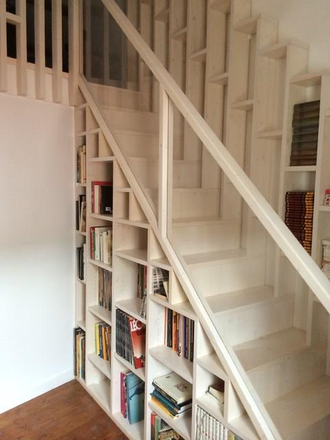 escalier biblioth que. Black Bedroom Furniture Sets. Home Design Ideas