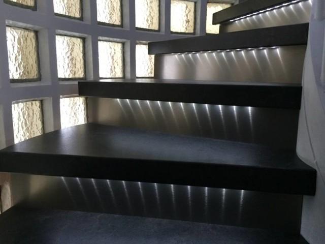 Escalier bois ancien relooké - Contemporain - Escalier - Lyon ...