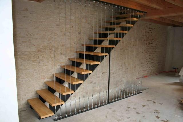 escalier bois métal - Industrial - Treppen - Dijon - von l ...