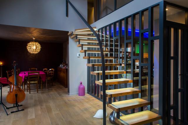 Escalier Design - Art\'Elier - Métal Verre Bois - Contemporain ...
