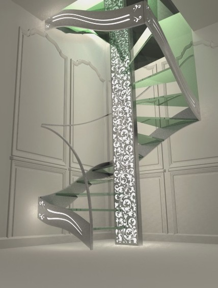 escalier design double quart tournant Renaissance - Contemporain ...