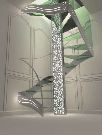 escalier design double quart tournant Renaissance - Modern - Treppen ...