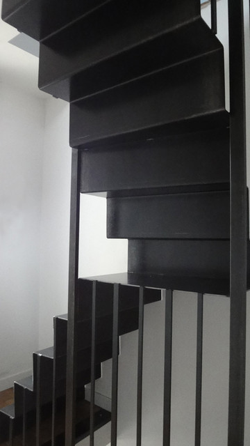 escalier en acier industrial staircase other metro by agathe proust. Black Bedroom Furniture Sets. Home Design Ideas