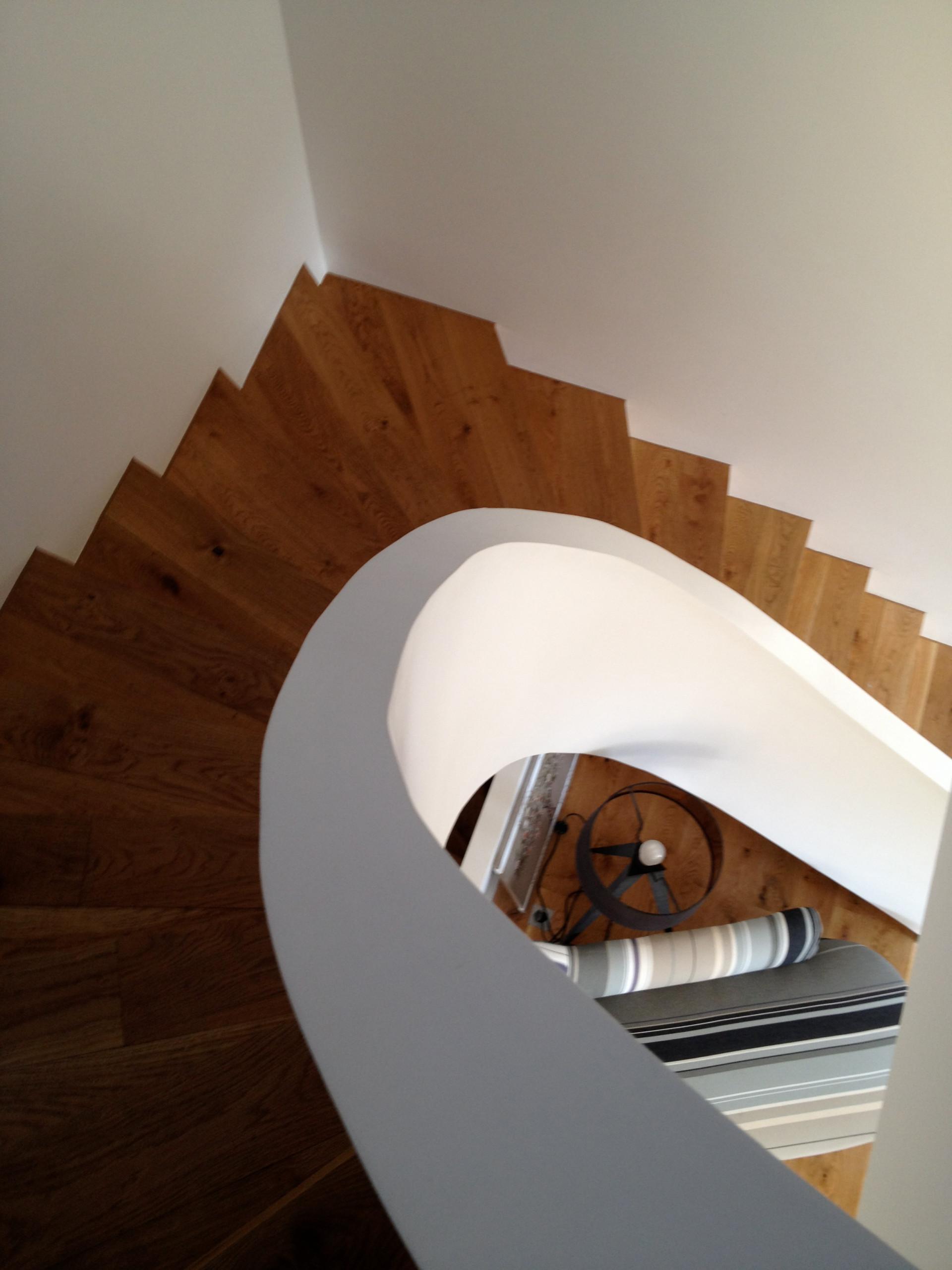 Escalier en arrondi en béton