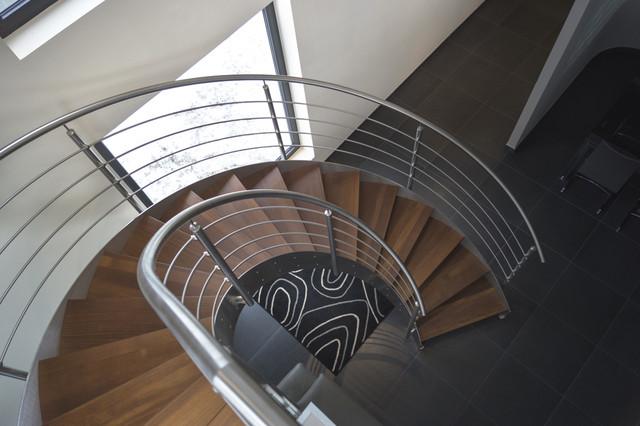 Escalier h lico dal inox design int rieur contemporary staircase other - Escalier helicoidal design ...