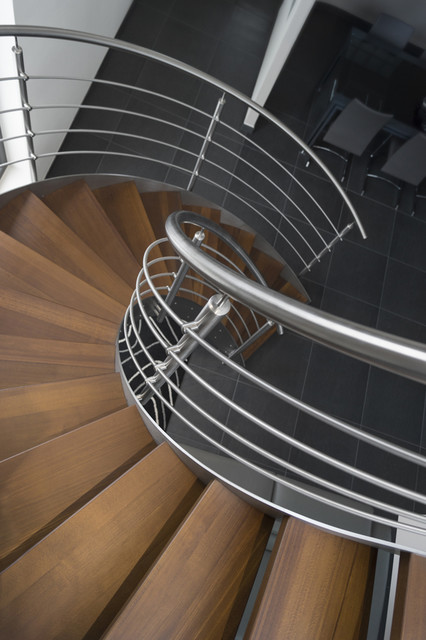 Escalier h lico dal inox design int rieur contemporain for Design escalier interieur