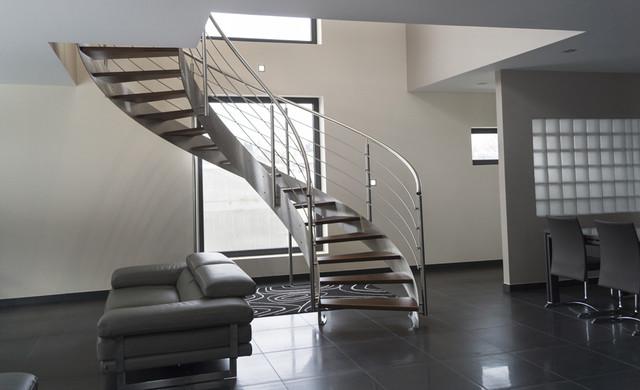 Escalier Hélicoïdal Inox Design intérieur - Modern - Treppen - Paris ...