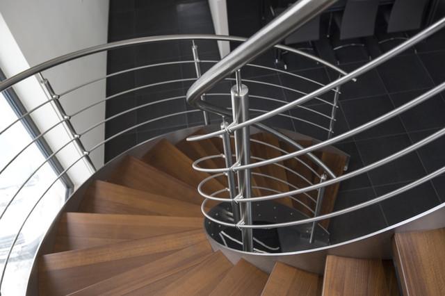 Escalier h lico dal inox design int rieur contemporain escalier autres - Escalier helicoidal design ...