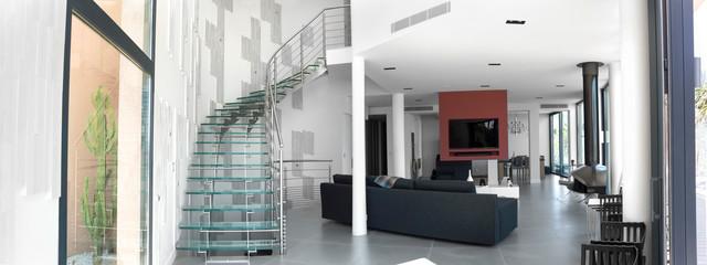 escalier h lico dal inox et verre contemporain escalier paris par garde. Black Bedroom Furniture Sets. Home Design Ideas