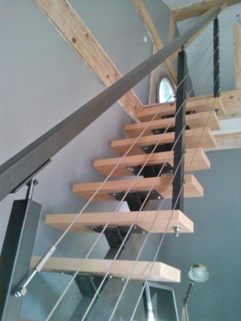 Escalier limon central industrial staircase - Escalier limon central lapeyre ...