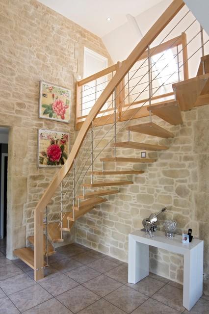 escalier nova moderne escalier toulouse par. Black Bedroom Furniture Sets. Home Design Ideas