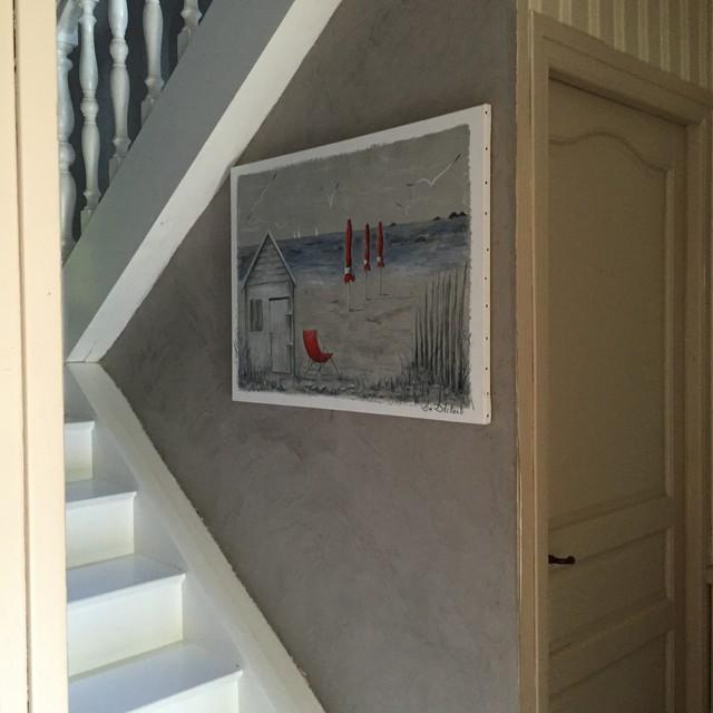 escalier peint beton cire mur campagne escalier nantes par l 39 atelier des sols. Black Bedroom Furniture Sets. Home Design Ideas