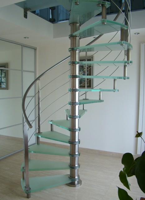 Escalier Spiro Inox Et Verre Depoli Spiro Stairs Stainless