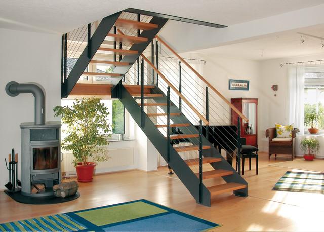 Escalier style industriel Loft - Industrial - Treppen ...