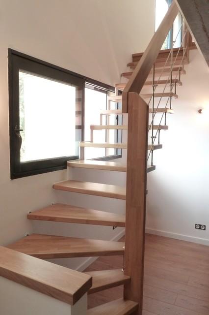 escalier suspendu moderne escalier autres p rim tres par passion bois. Black Bedroom Furniture Sets. Home Design Ideas
