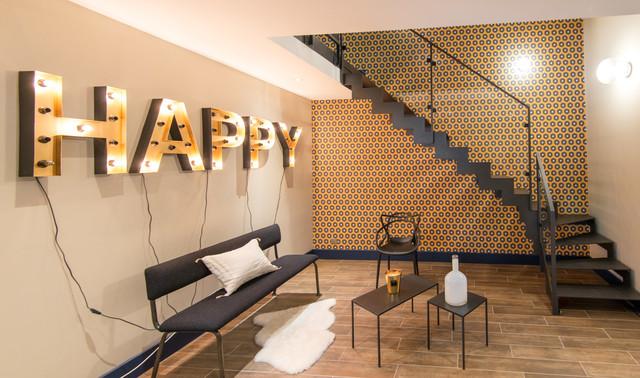 espace dtente et salle de bain contemporary staircase