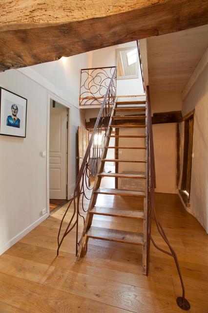 Ferme Basque Interieur Exterieur Contemporain Escalier
