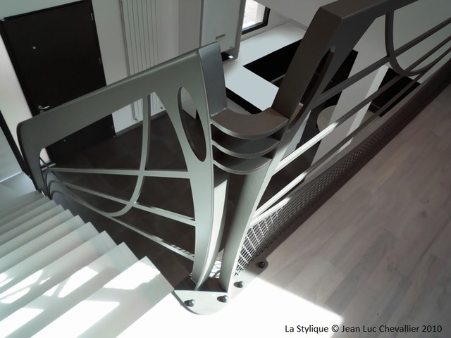 Garde Corps Design Art Nouveau Contemporain Escalier Paris Par La Stylique